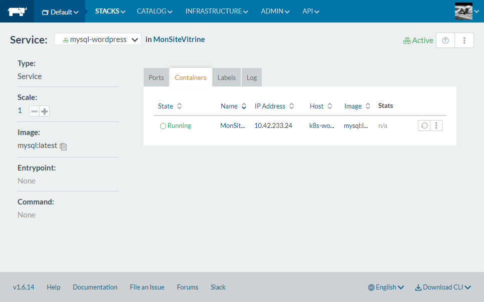 rancher-service-status-page